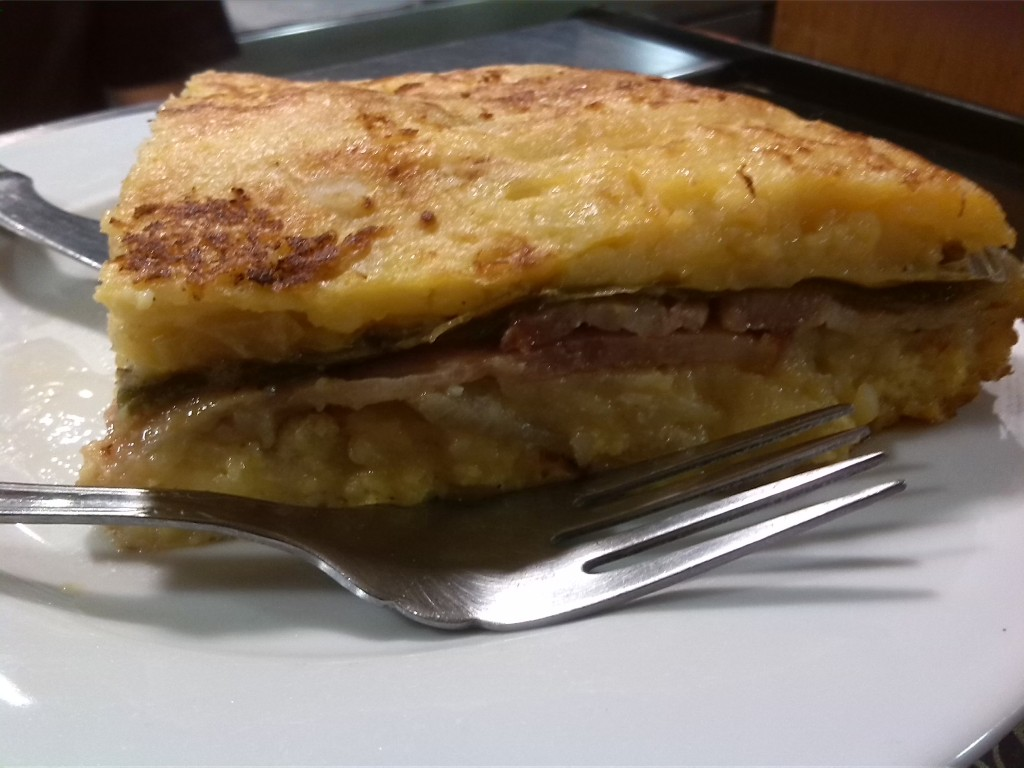 tortilla con bacon